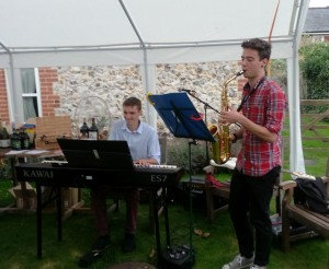 Band at garden party 2015