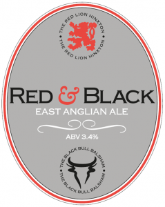 Red Black Beer Pump Clip